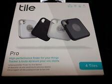 Open Package Tile Pro 2020 4-pack Bluetooth Tracker, Key Finder & Locater