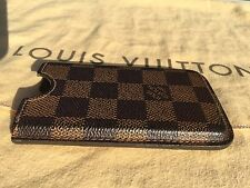 ORIG. Louis Vuitton estuche iPhone 4/4s funda tablero de ajedrez top estado