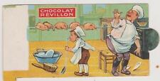 IMAGE PUBLICITAIRE CHOCOLAT REVILLON/CUISINIER ET MARMITON-POULET A LA BROCHE