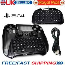 Bluetooth Wireless PS4 Keyboard Chatpad Controller GamePad  For Playstation 4 UK