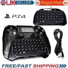 Controlador Gamepad Chatpad Teclado inalámbrico Bluetooth para Playstation 4 PS4 UK