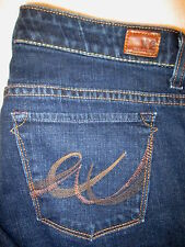 Express W10 Slim Low Flare Stretch Womens Dark Blue Jeans Size 8 S x 29 Mint
