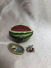 Boyds Bear Treasure Box Wally's Watermelon With Pip McNibble