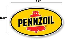 """(PENN-2) 12"""" PENNZOIL OIL LUBSTER front DECAL GAS PUMP SIGN GASOLINE"""
