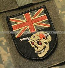BRITISH SAS Special Air Service CAMP BASTION DIGGER UK FLAG SKULL νeΙ©®😎 PATCH