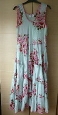 PRETTY, BLUE, CRINKLE-EFFECT, FLORAL SUNDRESS BY VINTAGE IBIZA - S-M (UK 8-10)