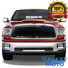 09-12 Dodge RAM Truck 1500 Front Hood Black Mesh Grille+Replacement Chrome Shell