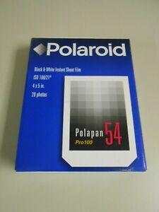Polaroid 54 Pro 100 B&W Open Box Instant Film 19 Sheets 4x5 Exp 06/00