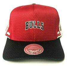 714d5380 Chicago Bulls Mitchell & Ness Jersey Mesh Red Snapback Hat Men's NBA Cap HWC