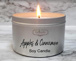 APPLES & CINNAMON Soy Wax Tin Candle | Fall Autumn