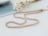 """New 18K Rose Gold Filled 3mm Ball Beads Chain Necklace For Pendant 18"""" - 28"""""""