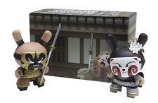 "DUNNY 3"" 2011 GOLD LIFE 2-PACK HUCK GEE KABUKI & KITSUNE BLACK KIDROBOT FIGURES"