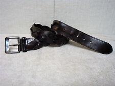 HAROLD'S - Women's Casual Fashion Belt - Dark Brown - Woven Leather - Size L