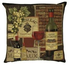 "18"" 45CM FAMOUS WINES SERIES, PAUILLAC SAINT EMILION TAPESTRY CUSHION COVER 3024"
