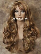 Super Luscious Layered Long Wavy Stunning RED Blonde MIX WIG WBBW RS29