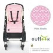 New Outlook Travel Baby Pram Liner Pink Shells Pure Cotton
