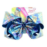 Cute JOJO SIWA Rainbow Large Bows Laser Bow-knot Print Grosgrain Ribbon Hairpin