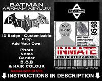 Batman Arkham Asylum Customised Personalised Cosplay Prop Comic Con Christmas
