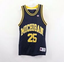 Vtg 90s Champion Mens 36 Fab Five Michigan Wolverines J Howard Basketball Jersey