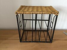 Vintage Wrought Iron Footstool/ Childs Stool/ Indoor Plant Stand/ What Not