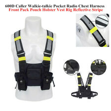 Walkie-talkie Pocket Radio Chest Harness Front Pack Pouch Holster Vest Rig Style