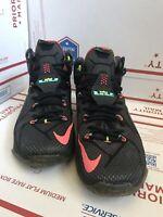 Men's Nike LeBron 12 XII Data Basketball Shoes Black Mango Size 10 684593-068