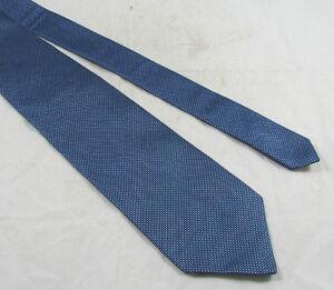 Banana Republic 100% Silk Neck Tie Navy Blue Mini Check