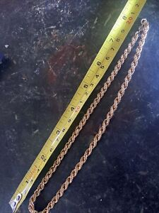 9ct Gold 16.5 Inch Necklace.  Lovely Rope Design