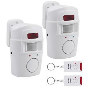 2x Alarmanlage 105dB Sirene Funk Bewegungsmelder Fensteralarm Sicherheit System