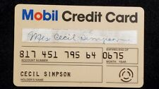 Mobil Credit Card exp 1975♡Free Shipping♡ cc899