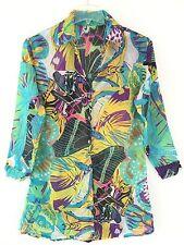 Handmade Women's Multi Color Collar Cover-Up Top Blouse Skirt Dress XS S M L XL