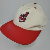 Vintage CLEVELAND INDIANS Chief Wahoo SNAPBACK HAT