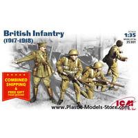 ICM 35301 British Infantry 1917-1918 WWI 1/35, 4 figures plastic model kit