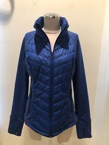 ZELLA Purple Long-Sleeve Puffer High-Neck Full-Zip Jacket w/ Pockets (Women's L)