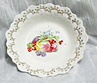 """Vintage Fruit or Serving Dish Bowl Porcelain 8 3/4"""""""