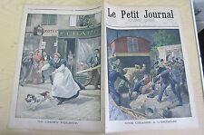 Le petit journal 1900 506 Chasse à l'homme + chien voleur