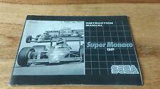 Super Monaco gp for Sega Mega Drive manual only genuine rare black & white