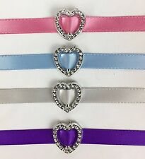 50 Acrylic 'Heart' Ribbon Slider Buckle 1.9cm Scrapbooking Wedding Invitations