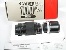 Canon macro FD 4/100 con extension Tube FD 50 u top + org. embalaje Mint + Boxed