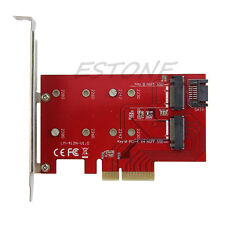 2Port NGFF M.2 B+M Key SSD to PCI-E PCI Express 4X 4 Lane Converter Card Adapter