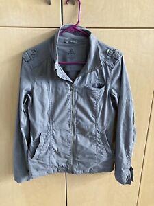 Prana Gray Zip Up Women's Jacket Size Small