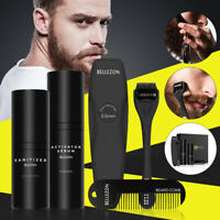 Beard Growth Kit Set Beard Styling Activator Serum Oil With Shaper Roller Comb