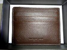 Michael Kors MENS RUSSEL ATM CREDIT CARD CASE Brown Soft Leather BNIB