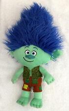 "Trolls Green Branch Blue Hair Plush 2016 Dreamworks 17"""