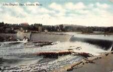Lewiston Maine Libby Dingley Dam Scenic View Antique Postcard K73154