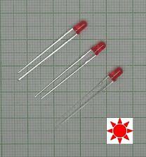 10 Stück Blink Led 3mm Rot diffus (Blinklicht, flash)+ Widerstand - E173f