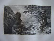 Grande gravure LOUIS VII se défend contre des sarrasins dans défilés de Laodicée