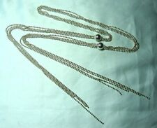 """MILOR ITALY 925 Sterling Silver 4 Strand Bola Necklace 39.5 grams  40 1/4"""""""