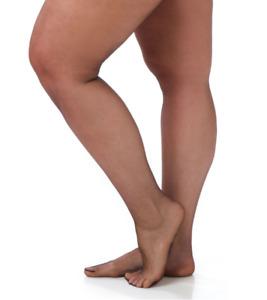 Catherines Pantyhose Ultra Sheer Hosiery Ribbed Panty Nylon Black Plus Size E