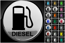 Diesel Fuel Only Car Van Fuel Cap Cover Sticker 75mm Decal 21 Colour